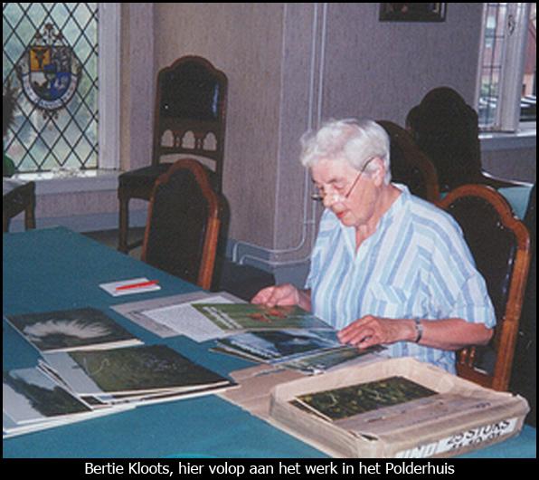 Bertie Kloots volop aan het werk in het Polderhuis