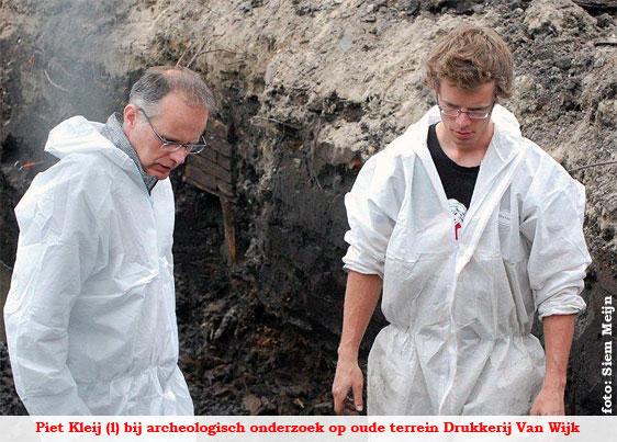 Piet Kleij op oude terrein drukkerij